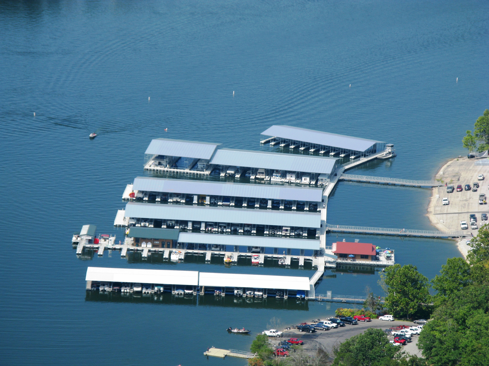 Aerial View of Cape Fair Marina on Table Rock Lake